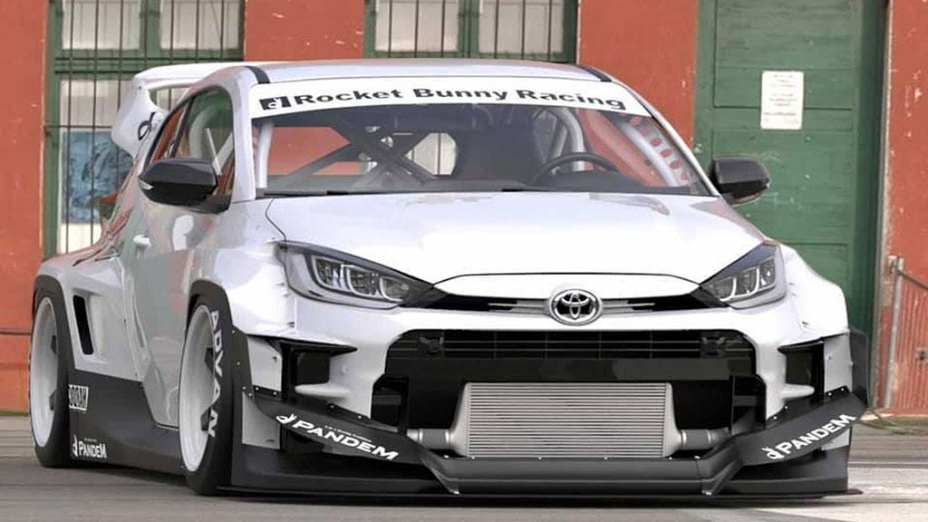 Modifikasi Toyota Yaris Rocket Bunny