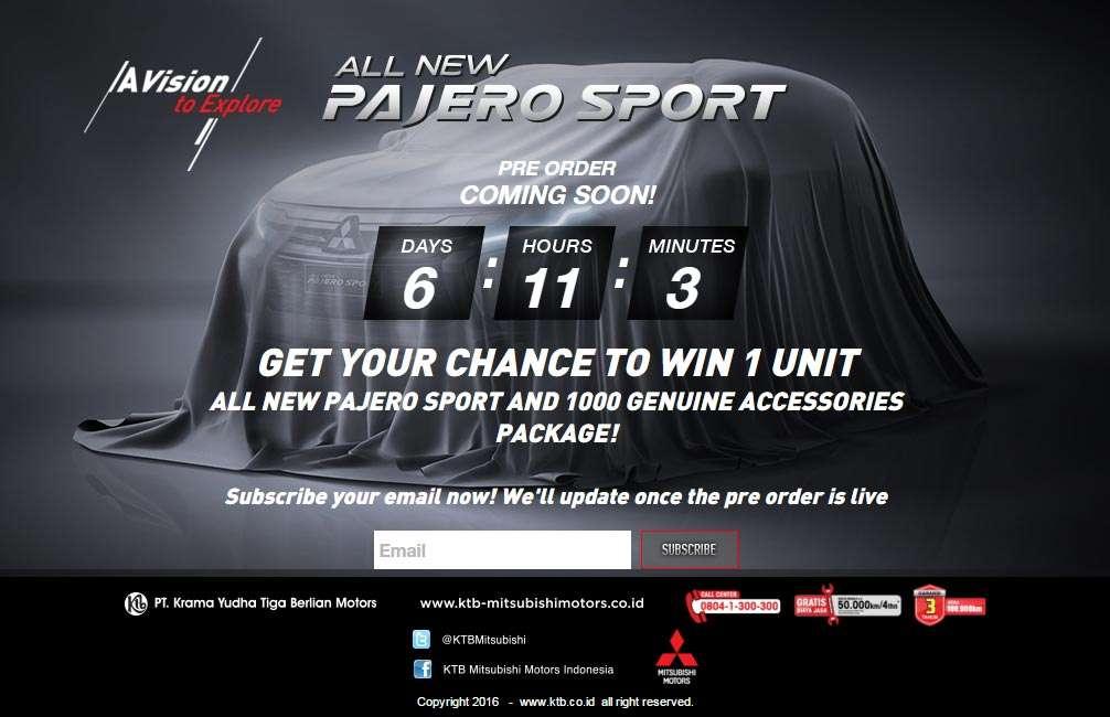 Mitsubishi All New Pajero Sport Sudah Bisa Dipesan Lho!