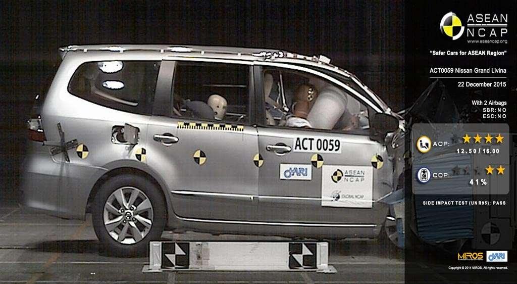 ASEAN NCAP Beri 4 Bintang untuk Nissan Grand Livina