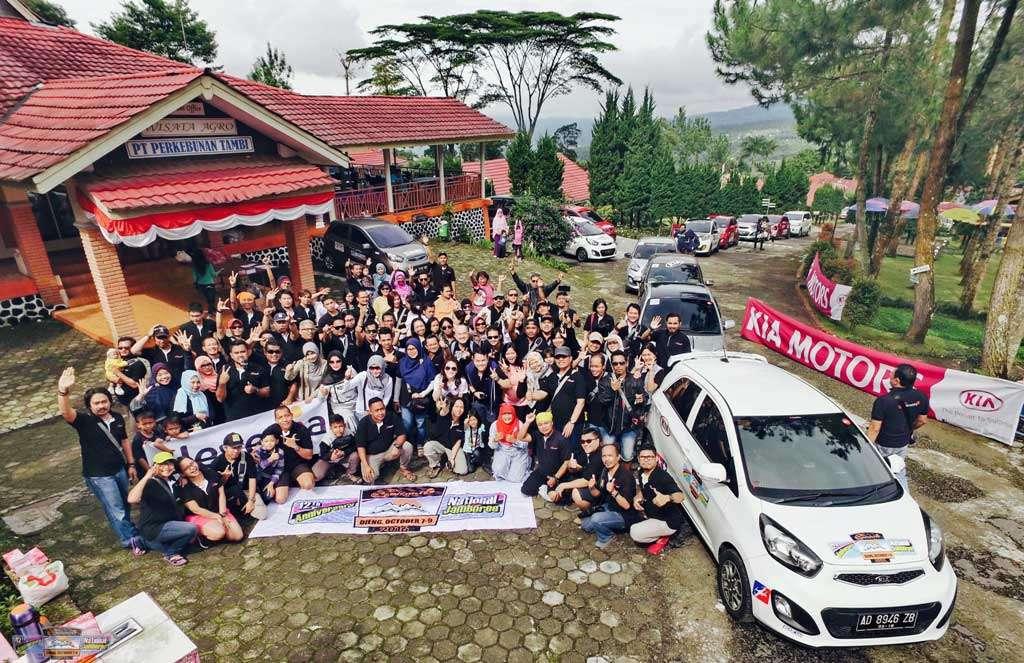 Rayakan HUT ke-12, Picanto Club Indonesia Touring di Dieng
