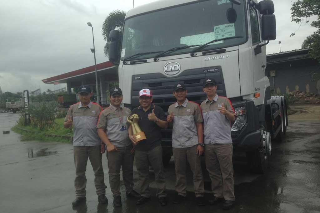 UD Trucks Gelar Layanan Khusus Pengemudi Truk di KM 43 Jakarta-Merak