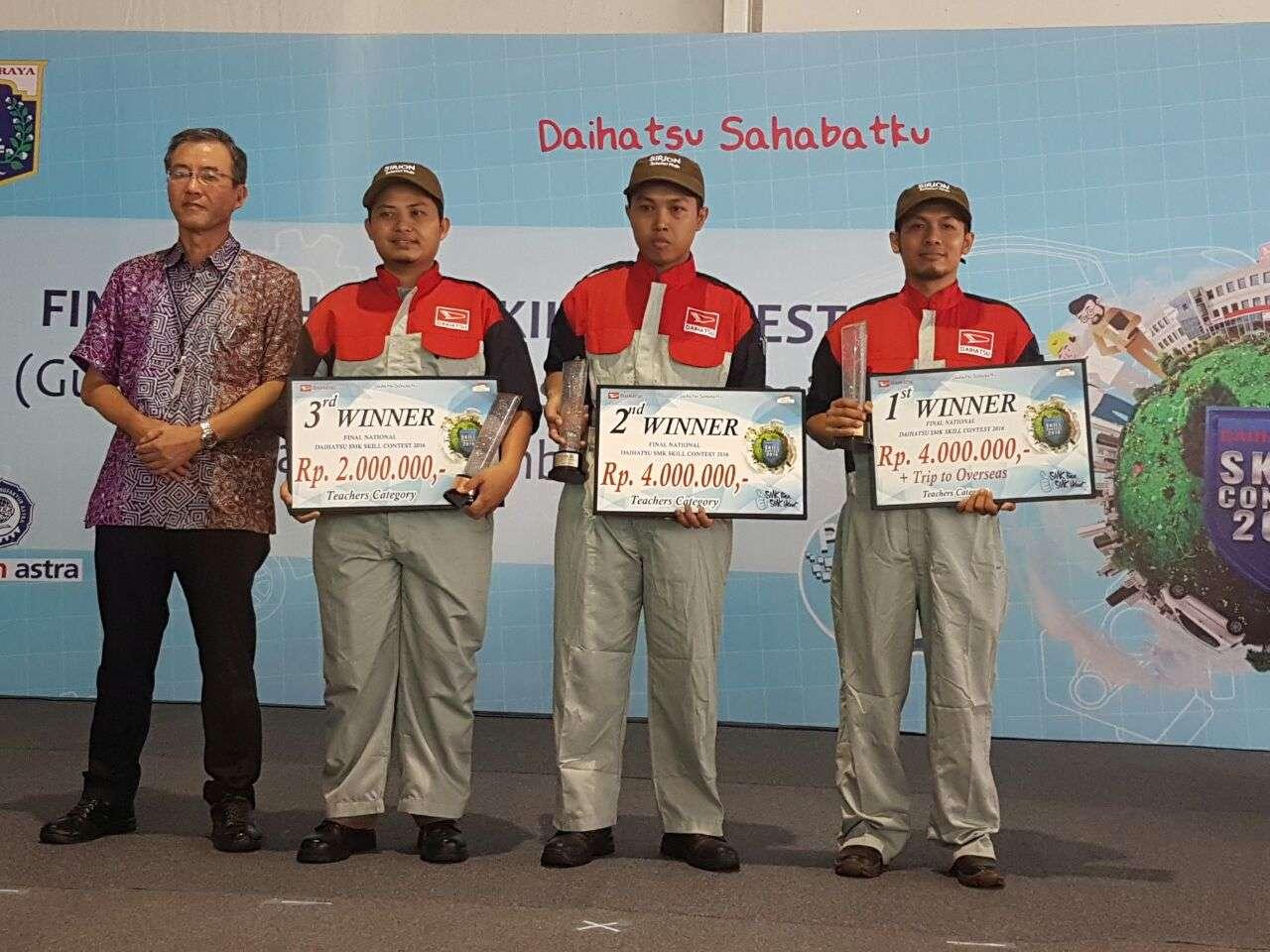 Ini Pemenang Daihatsu Skill Contest untuk Guru dan Siswa SMK