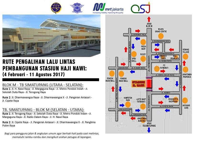 Pembangunan MRT, Ini Skema Pengalihan Arus Lalu Lintas Jalan Fatmawati