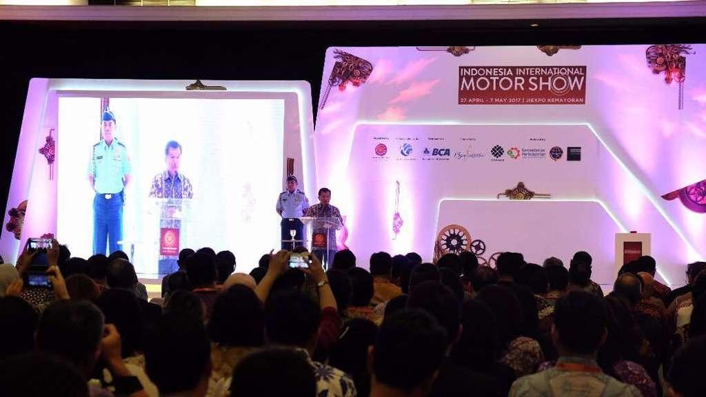 IIMS 2017: Wapres Jusuf Kalla Minta Industri Otomotif Kuasai Riset dan Teknologi