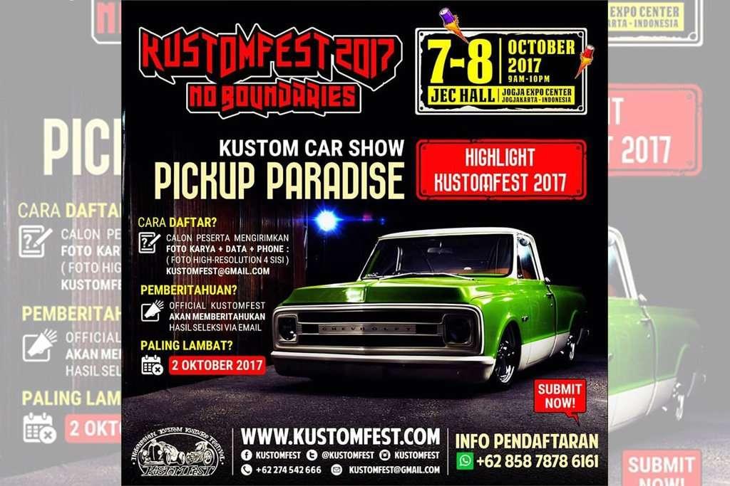 Pick-Up Paradise, Ajang Unjuk Pikap di Kustomfest 2017