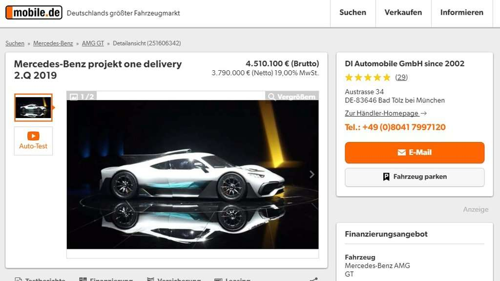 Mercedes-AMG Project One Ini Dijual Seharga Rp 70,7 Miliar!