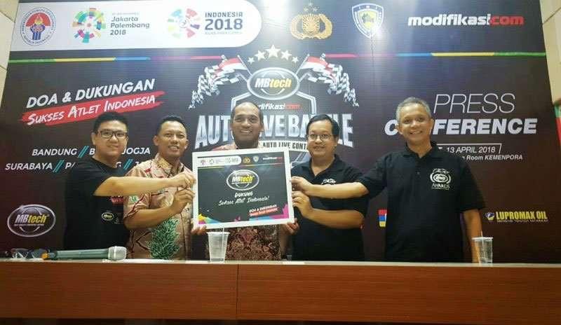 MBtech Auto Live Battle, Modifikasi Sembari Mendukung Atlet Indonesia