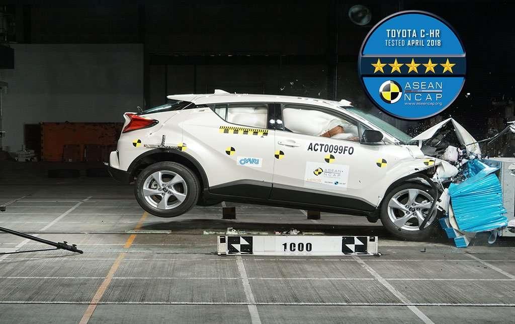 Bagaimana Uji Tabrak Toyota C-HR dan Rush Versi ASEAN NCAP?