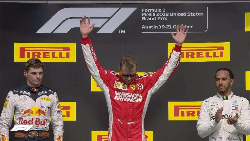 F1: Raikkonen Menang GP Amerika, Hamilton Gagal Kunci Gelar Juara