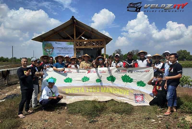 Velozity Chapter Tangerang Tanam 1.000 Pohon Mangrove di Patra Menggala