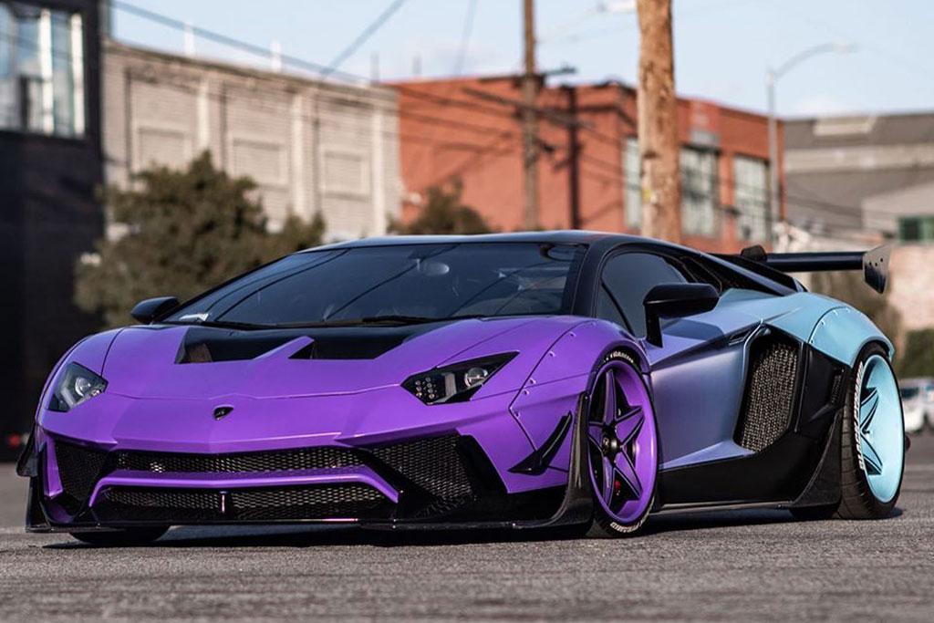 Sangar! Begini Lamborghini Aventador SV Kustom Milik Chris Brown