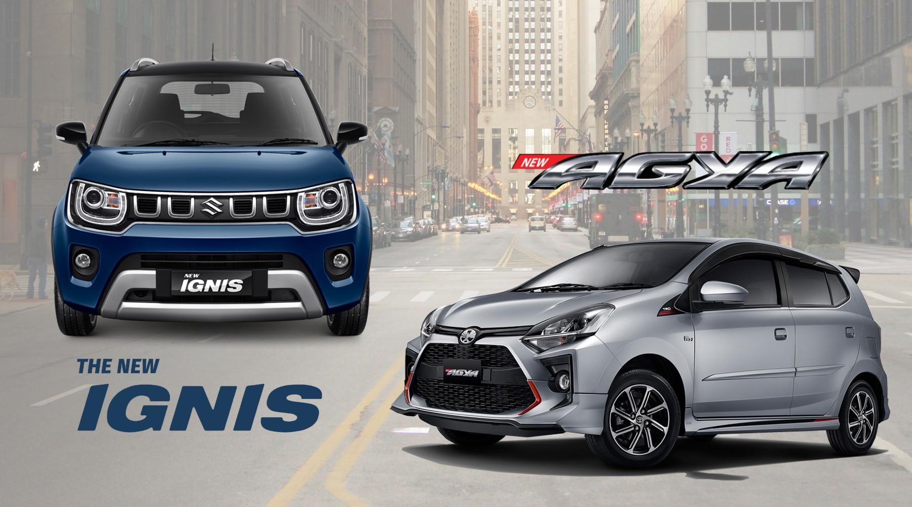 KOMPARASI: Pilih Suzuki Ignis GX Atau Toyota Agya TRD?
