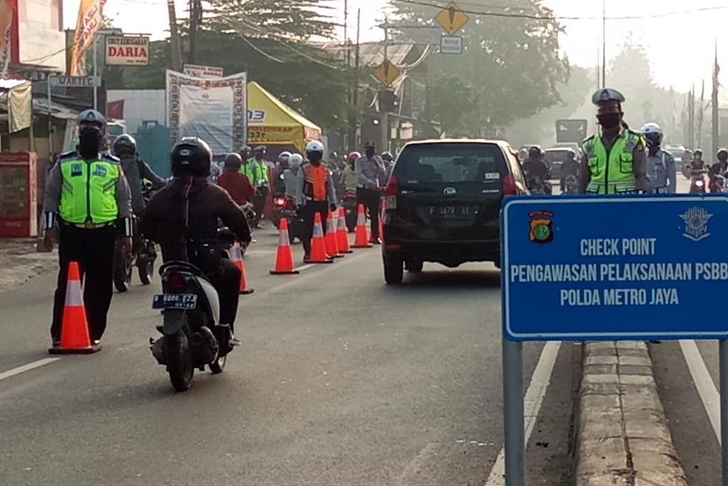 Sepekan PSBB di Jakarta, Polisi Tindak 18.958 Pelanggaran