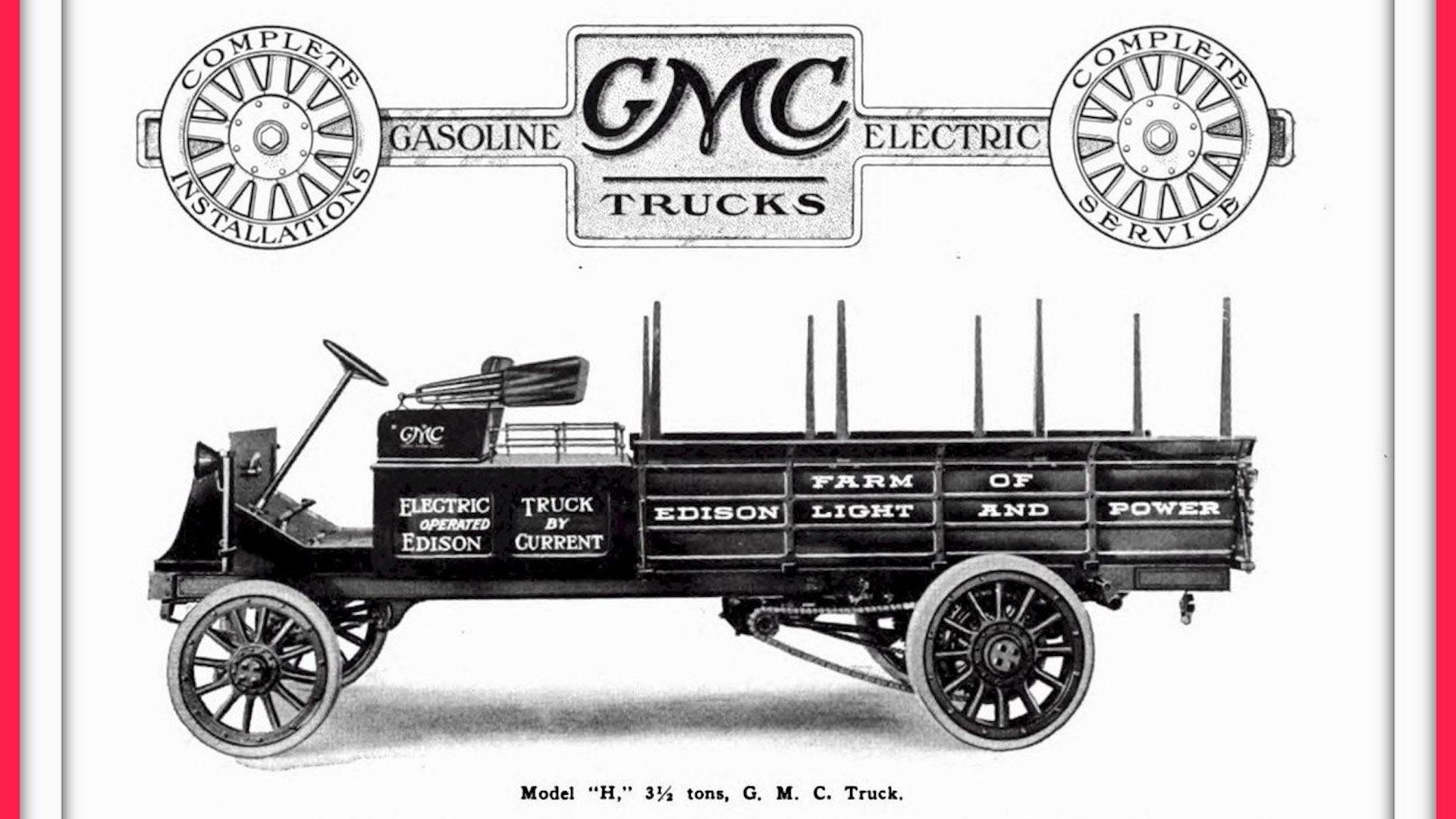 Sebelum Hummer EV Ada, Lebih Seabad Lalu GMC Produksi Truk Listrik