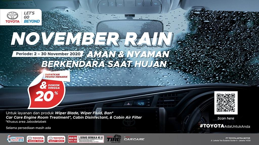 Persiapan Terjang Hujan Bulan November dengan Promo Aftersales Toyota