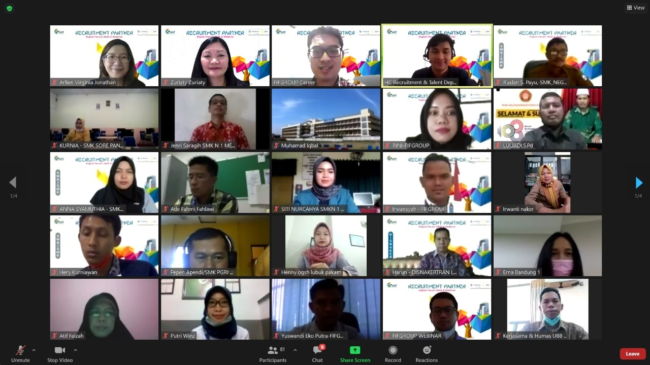 FIFGroup Gelar Program Recruitment Partner Digital Forum