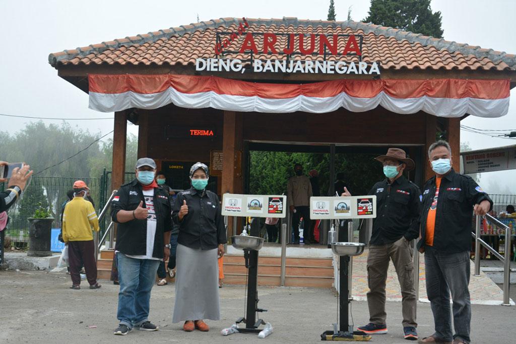 Komunitas Honda BR-V Be One, Donasi Fasilitas Cuci Tangan di Kawasan Wisata Dieng