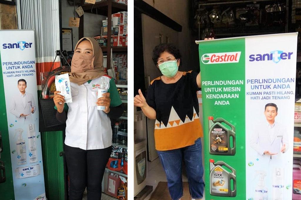 Kawal Konsumen, Saniter Tebar Perangkat Kesehatan di 90 Bengkel Mitra Castrol