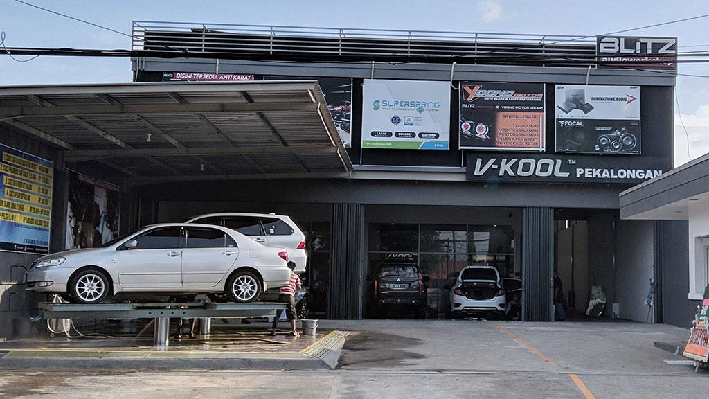 Dealer Baru V-KOOL Pekalongan, Bisa Service 2 Unit Mobil Sekaligus