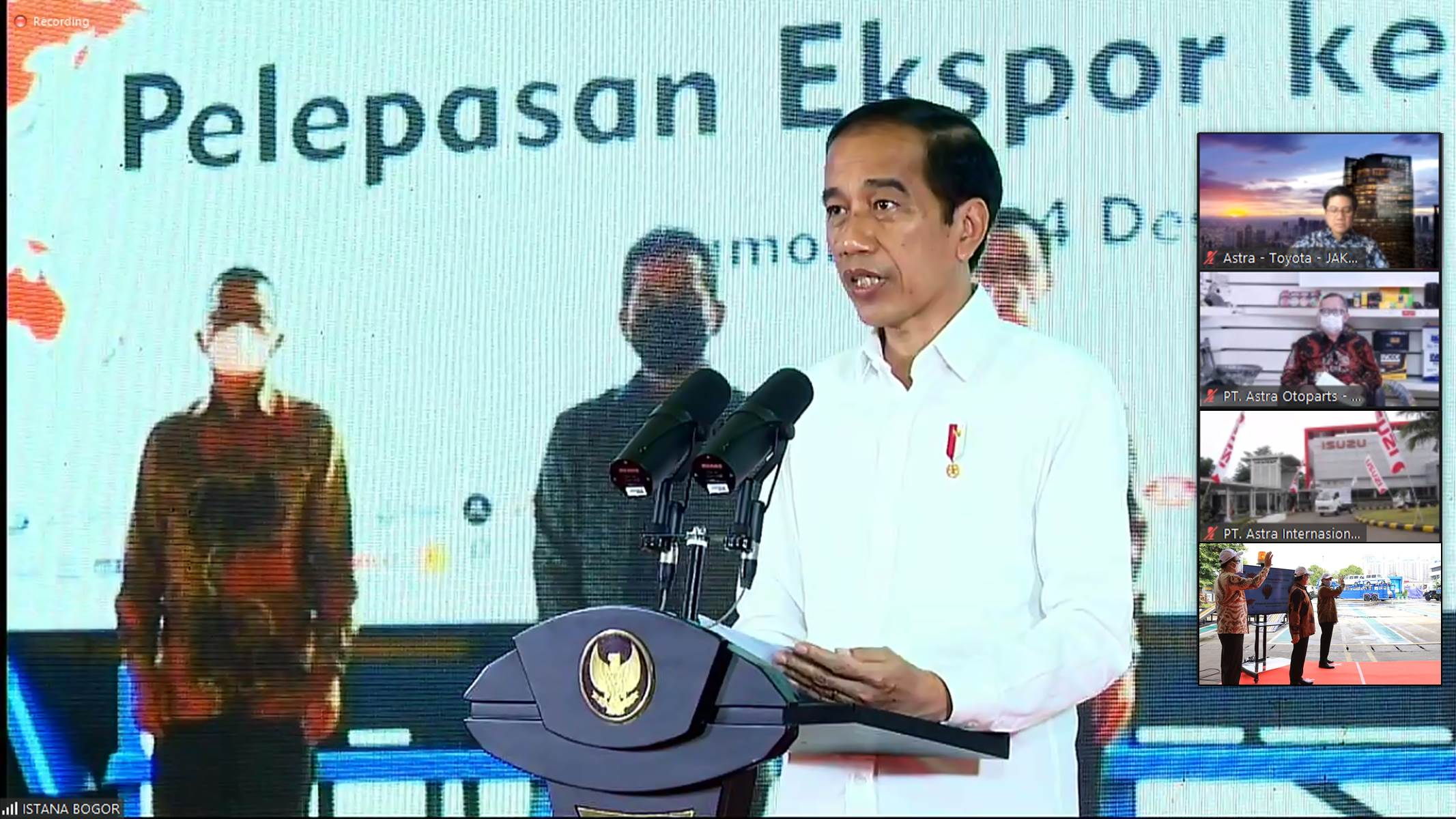 Grup Astra Berpartisipasi Pada Pelepasan Ekspor Dipimpin Presiden Joko Widodo