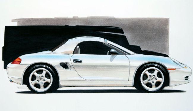 986 Boxster, Sketsa Desain, 1992, Porsche AG
