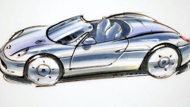 Dulu Sketsa Porsche Boxster Masih Dikerjakan Freehand, Begini Hasilnya