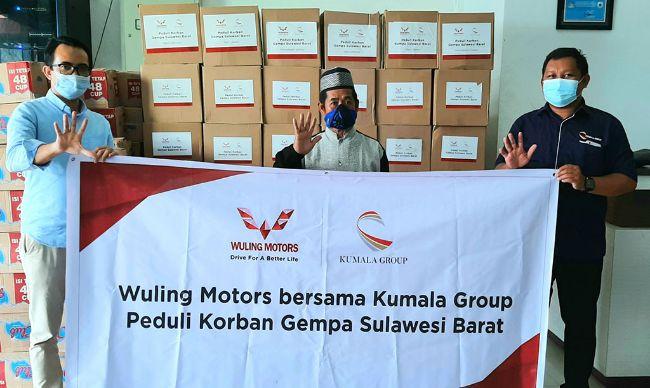 Wuling Bersama Kumala Group Peduli Korban Gempa Sulawesi Barat