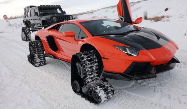 Lamborghini Snowmobile