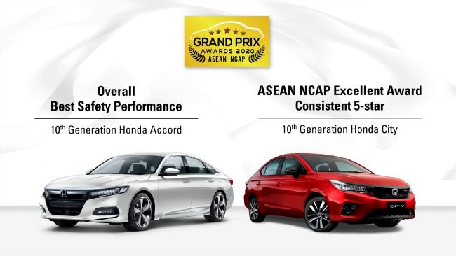 Honda Accord dan City Raih Penghargaan Di ASEAN NCAP Grand Prix Awards 2020
