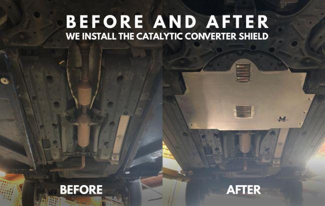 pelindung catalytic converter dari pencurian