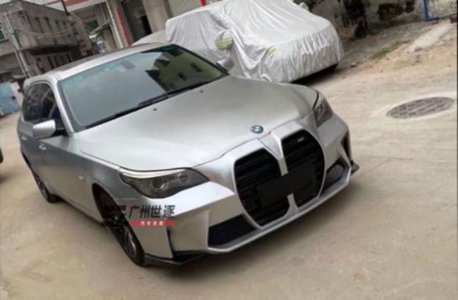 Dua Desain Kontroversial Bergabung, BMW E60 Ini Pakai Wajah M3/M4 Terbaru