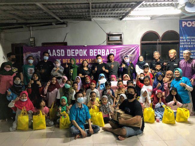Komunitas Agya Ayla SoliDaritas Beri Santunan Ke 60 Anak Yatim Piatu di Depok