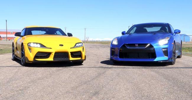Toyota Supra dan Nissan GT-R Adu Drag Race, Siapa yang Menang?
