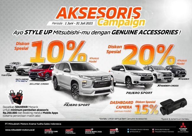Mitsubishi Gelar Accessories Campaign, Ada Diskon Hingga Hadiah Aksesori Langsung